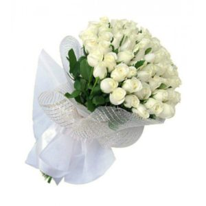 4 dozen White Holland Roses