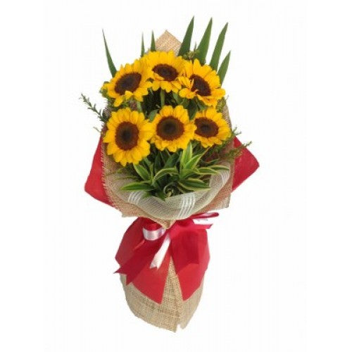 6 pcs Sunflowers