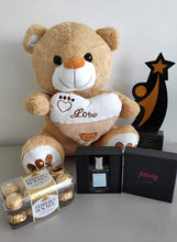 Load image into Gallery viewer, Philblossoms 16inches Bear with 16pcs Ferrero and Felicity Perfume