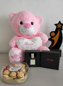 Philblossoms 16 inches Bear with 8pcs Fererro and Felicity Perfume