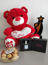 Load image into Gallery viewer, Philblossoms 16 inches Bear with 8pcs Fererro and Felicity Perfume