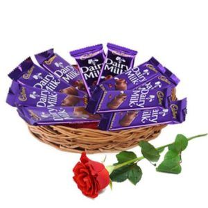 Cadbury Chocolate Basket  ( 7 pcs Cadbury  60g )