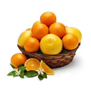 Sweet Orange Fruit Basket