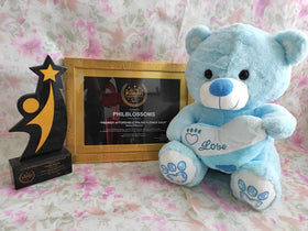 Philblossoms Blue 16inhces Bear