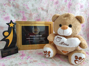 Philblossoms Brown16inhces Bear