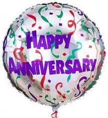 Happy Anniversary Mylar Balloon
