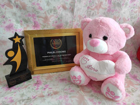 Philblossoms  Pink 16inhces  Bear