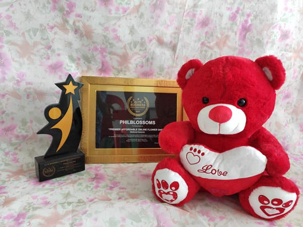 Philblossoms Red 16inhces Bear