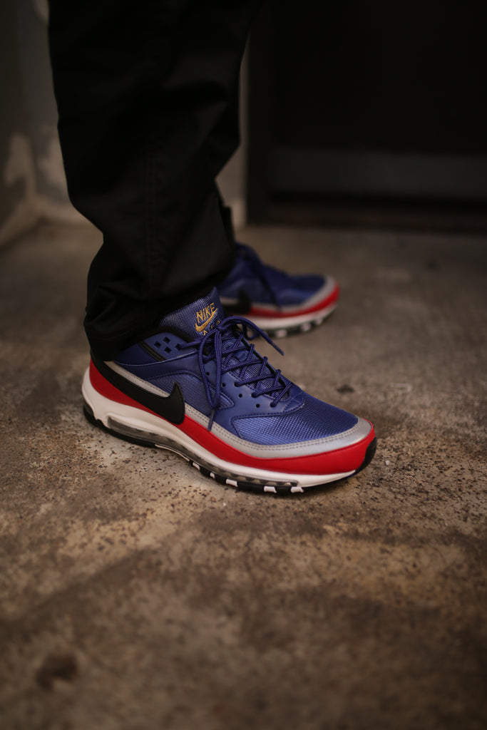 d07f8a2649 Nike's hybrid run continues with two new colourways in the Quickstrike Air  Max 97/BW. Both Royal Blue and Metallic Gold variations see the classic Air  Max ...