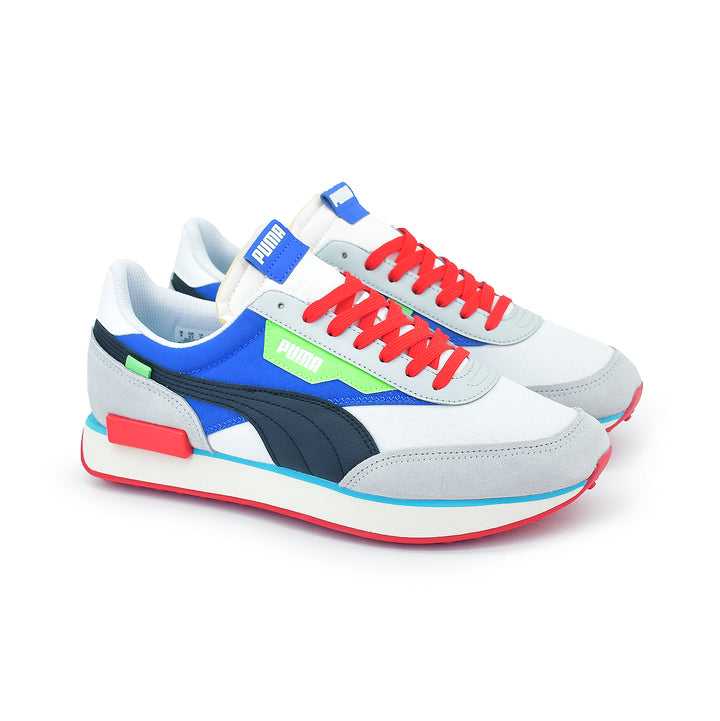 Puma Style Rider Ride On White/Dazzling Blue/Grey 372839-01