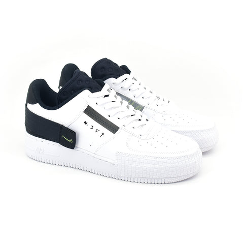 Nike Air Force 1 Type White Black Volt AT7859 101