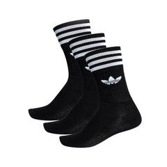 adidas Solid Crew Sock 3pk Black/White