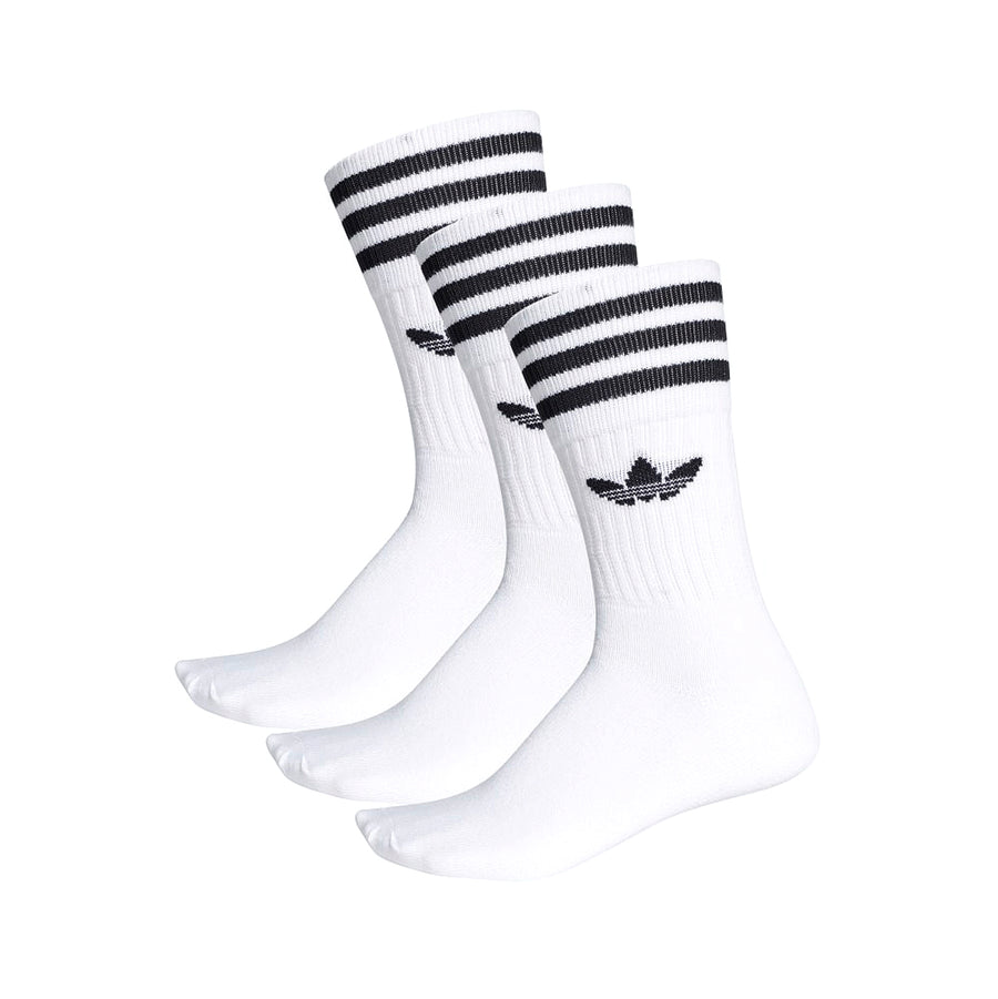 adidas Solid Crew Sock 3pk White/Black