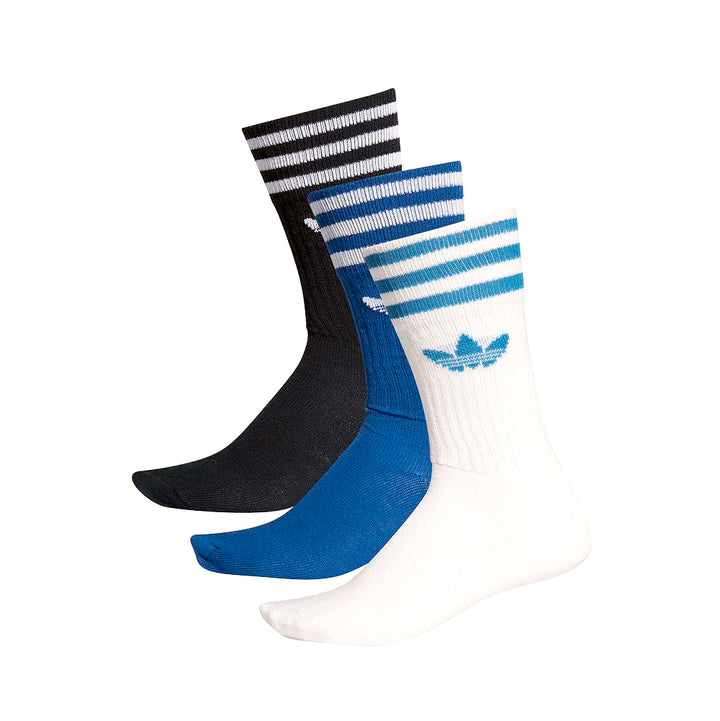 adidas Solid Crew Sock 3pk Collegiate Navy/Royal/White