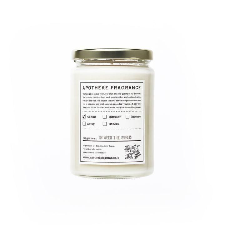 "Apotheke Fragrance Glass Jar Candle ""Between The Sheets"""