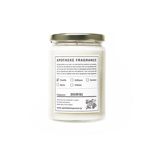 "Apotheke Fragrance Glass Jar Candle ""Drawing"""