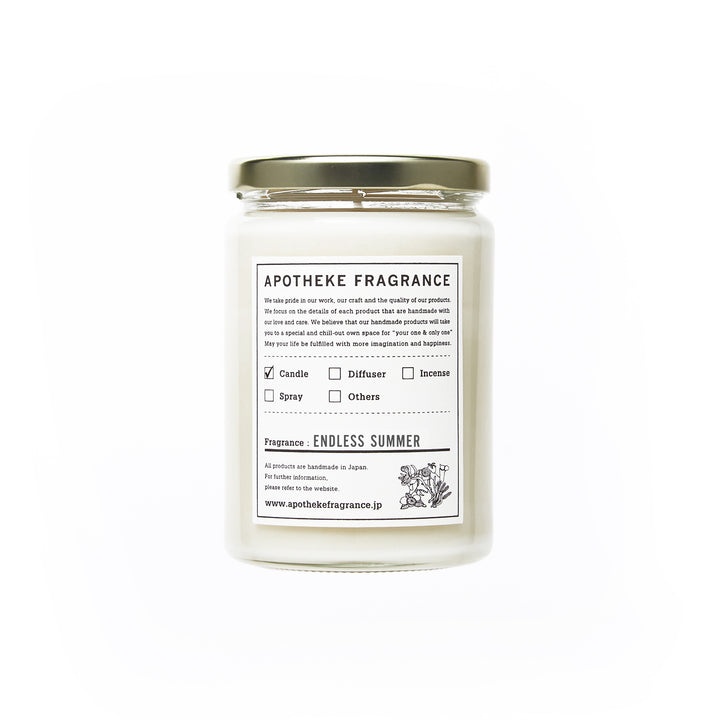 "Apotheke Fragrance Glass Jar Candle ""Endless Summer"""