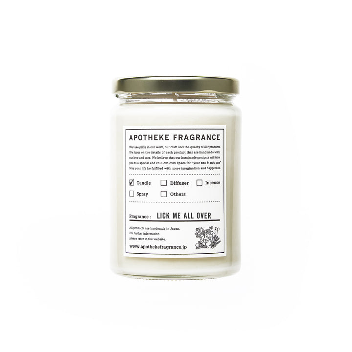 "Apotheke Fragrance Glass Jar Candle ""Lick Me All Over"""