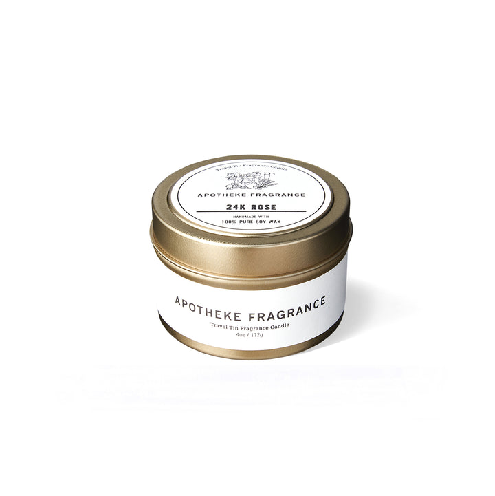 "Apotheke Fragrance Tin Candle ""24k Rose"""