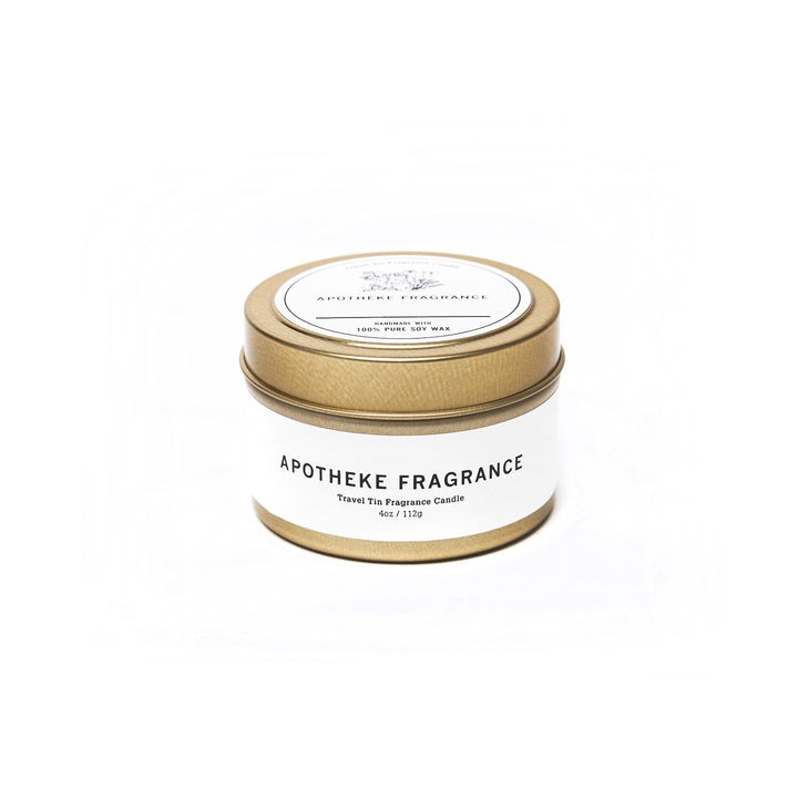 "Apotheke Fragrance Tin Candle ""Teakwood"""