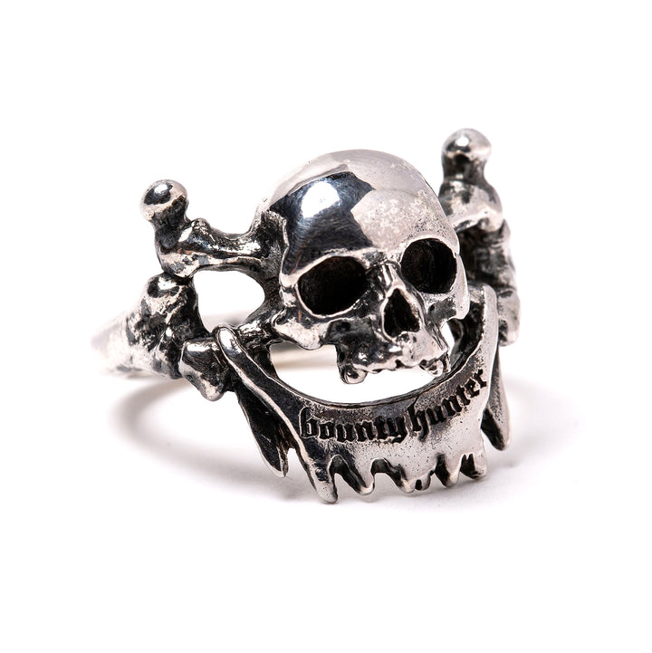 Bounty Hunter x Dog State UK Skull Ring Silver