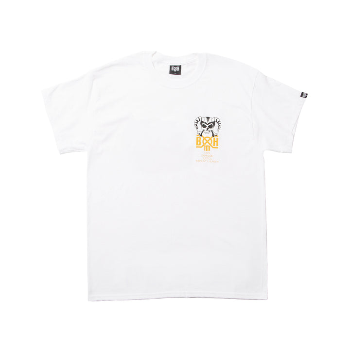 Bounty Hunter Horns Tee White/Yellow