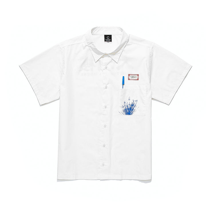 Clottee Pen S/S Shirt White