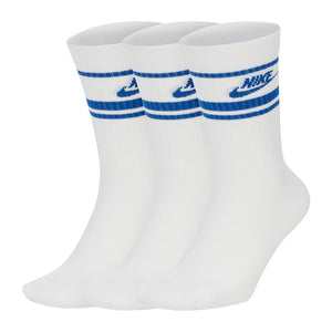 Nike NSW Essential Stripe Socks White/Blue