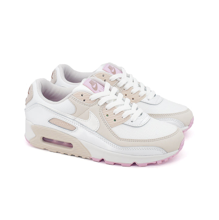 Nike Womens Air Max 90 Summit White/MTLC Summit White CT1873-100