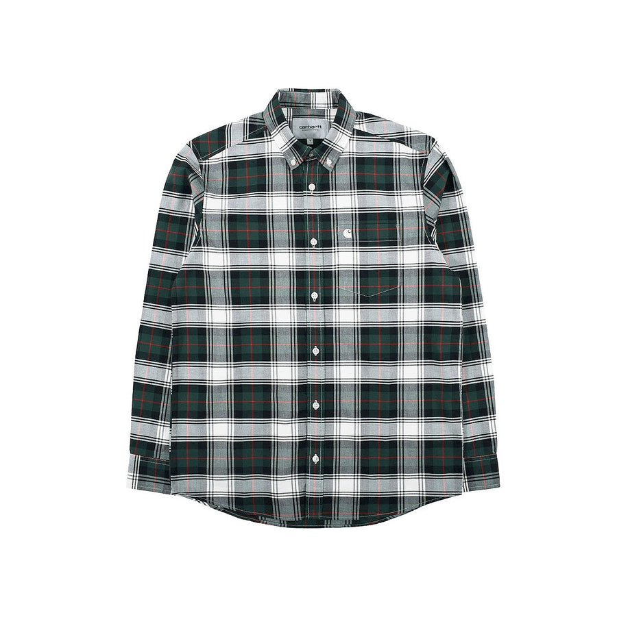 Carhartt Steen Check Shirt Bottle Green
