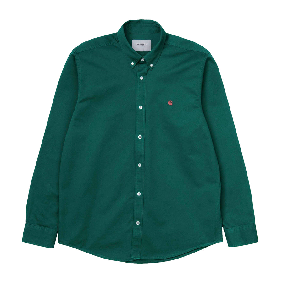 Carhartt Madison L/S Shirt Dark Fir/Merlot