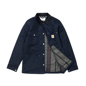 Carhartt Michigan Chore Coat Dearborn Dark Navy Rigid