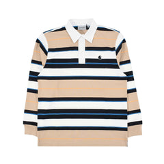 Carhartt Morgan L/S Polo Morgan Stripe/Hull