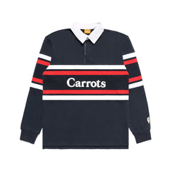 Carrots Spring 2020 Wordmark Stripped Rugby Navy