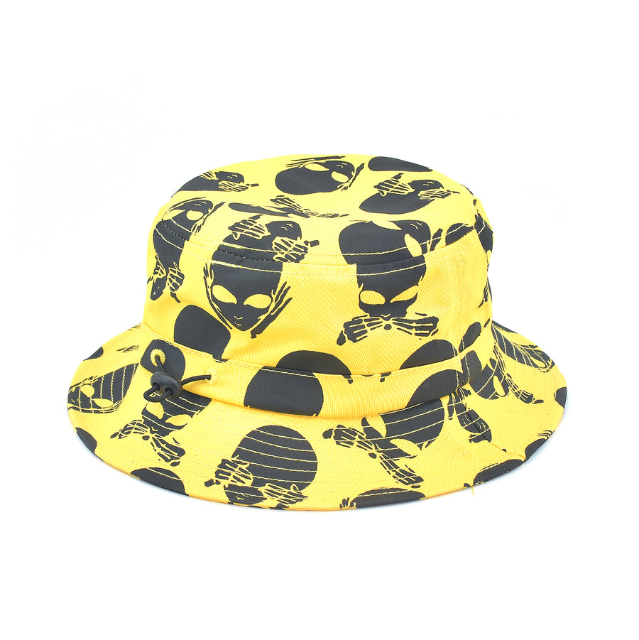 Chinatown Market No Evil Bucket Hat Yellow