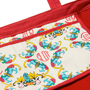 Clot Chinese Print Tote Bag
