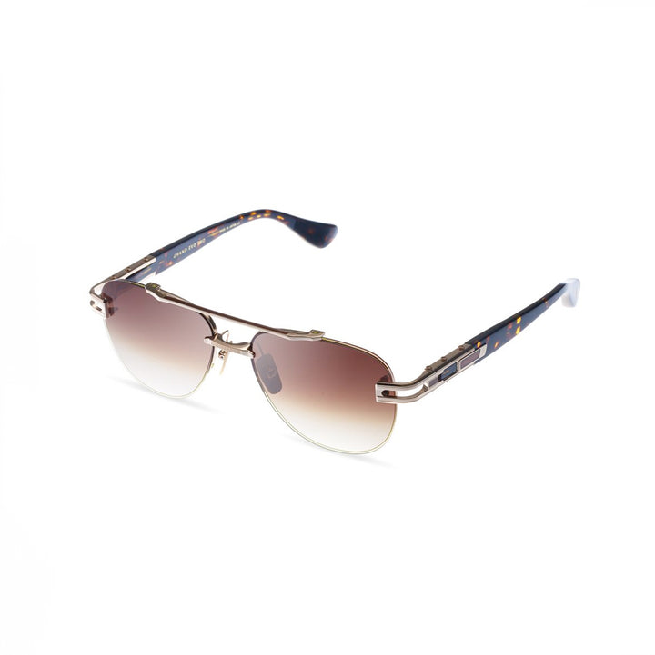 Dita Grand-Evo Two White Gold/Brown w/Dark Brown to Clear Lens