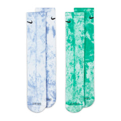 Nike Everyday Plus Cush Crew Sock 2Pack Tie-Dye Green/Purple  DM3407-903