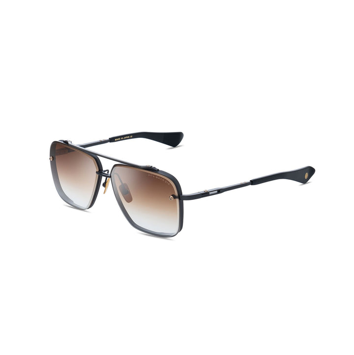 Dita Mach Six Black Iron/Black Rhodium w/ Dark Brown/Clear Lens