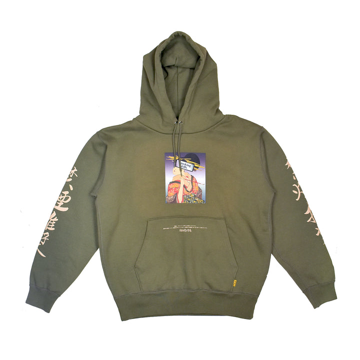 Fxxking Rabbits Ukiyoe Smoking Kills Hoodie Olive