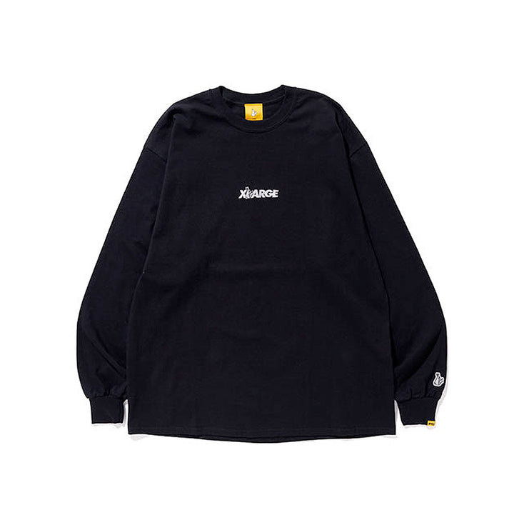 Fxxking Rabbits x XLARGE Moon Chaser L/S Tee Black