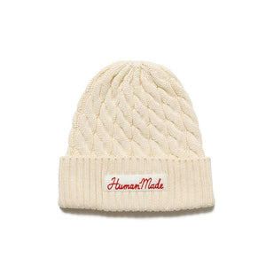 Human Made Cable Knit Beanie White