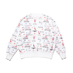 Human Made Curry Up Crewneck Sweat White