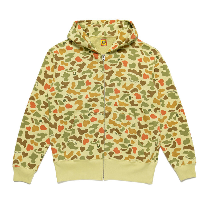 Human Made Duck Camo Zip Hoodie Green