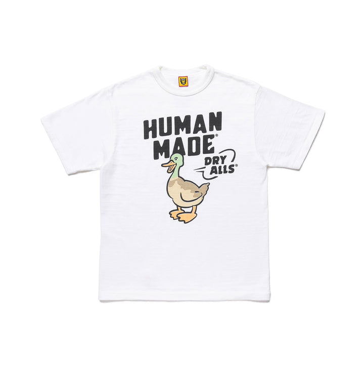 Human Made Tee #1804 Duck Dry Alls White