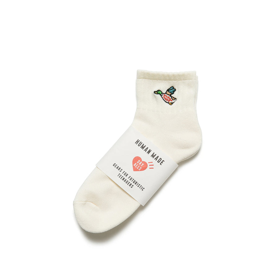 Human Made Duck Pile Short Socks White