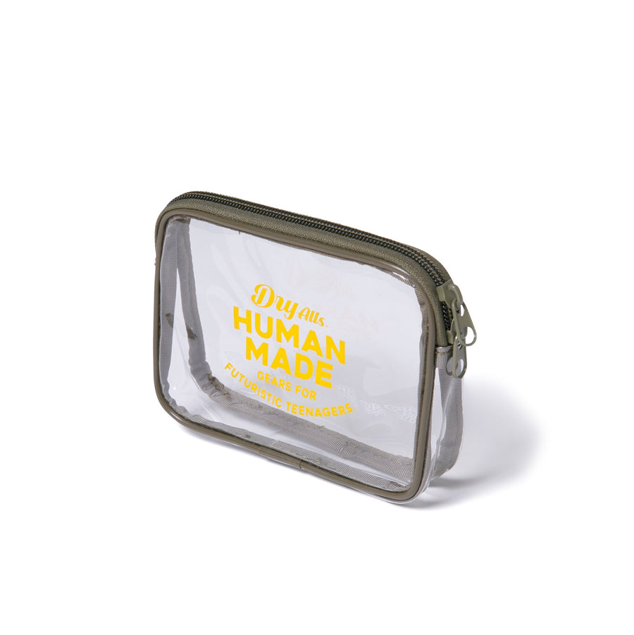 Human Made Medium PVC Pouch Olive Drab
