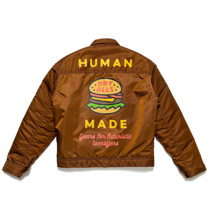 Human Made Padded Nylon Work Jacket Brown