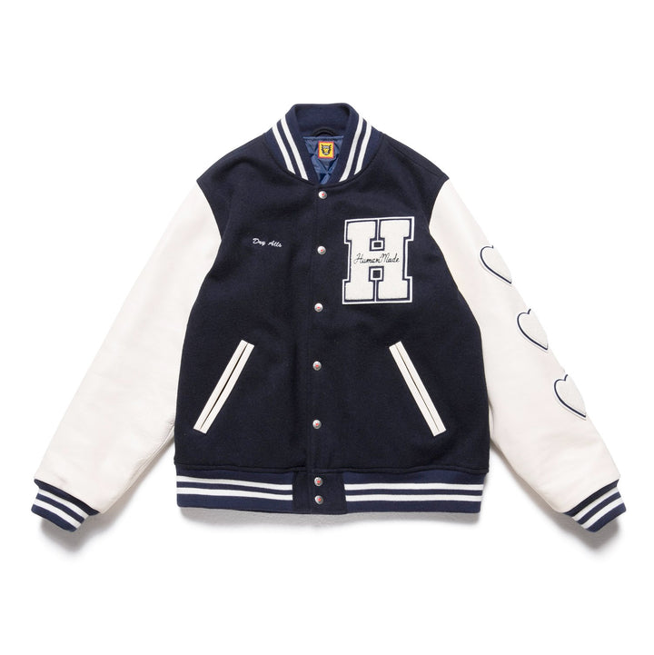 Human Made Varsity Jacket Navy