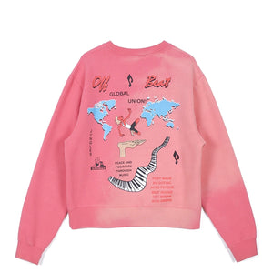 Jungles Global Union Fleece Sweater Sun Bleached Red